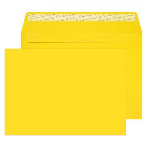 Blake Creative Colour Banana Yellow Peel & Seal Po cket 324x229mm 120Gm2 Pack 250 Code 403P 3P