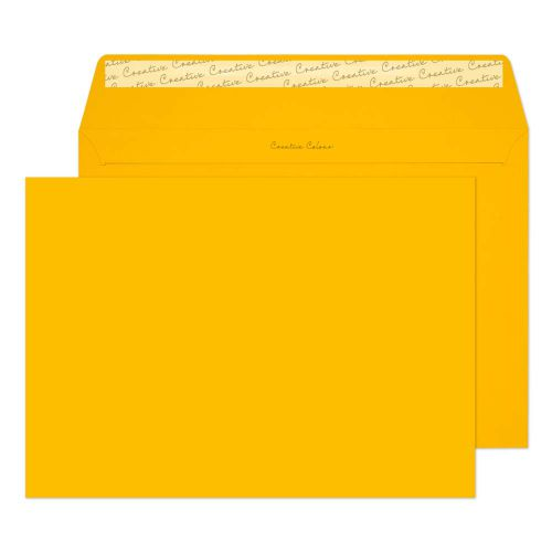 Creative Colour Egg Yellow Peel and Seal Wallet C4 229x324mm Ref 404 [Pack 250] *10 Day Leadtime*