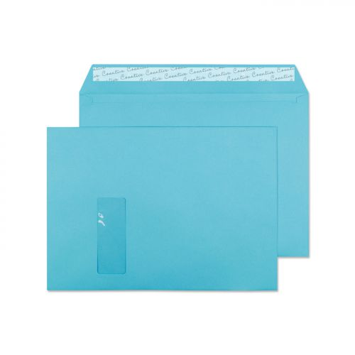 Creative Colour Cocktail Blue P&S Wallet Window C4 229x324mm Ref 409W [Pack 250] *10 Day Leadtime*