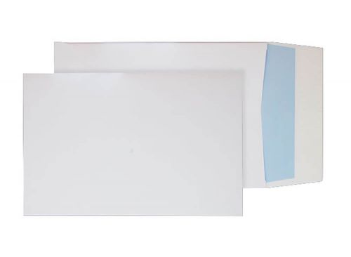 Blake Purely Packaging White Peel & Seal Gusset Po cket 352X250X25mm 140Gm2 Pack 125 Code 41060 3P