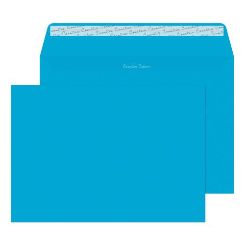 Creative Colour Caribbean Blue P&S Wallet C4 229x324mm Ref 410 [Pack 250] *10 Day Leadtime*