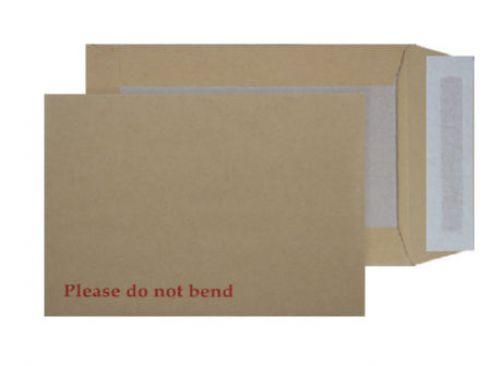 Blake Purely Packaging Manilla Peel & Seal Board Back Pocket 240X165mm 120Gm2 Pack 125 Code 4112 3P
