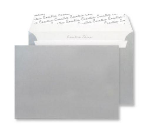 Blake Creative Shine Metallic Silver Peel & Seal W allet 229X324mm 130Gm2 Pack 250 Code 412 3P