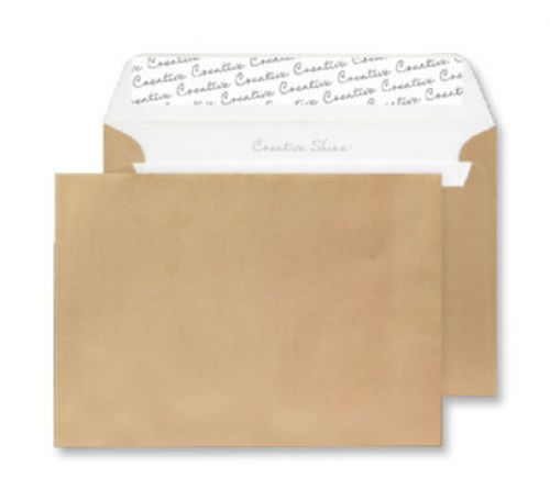 Creative Shine Metallic Gold Peel and Seal Wallet C4 229x324mm Ref 413 [Pack 250] *10 Day Leadtime*