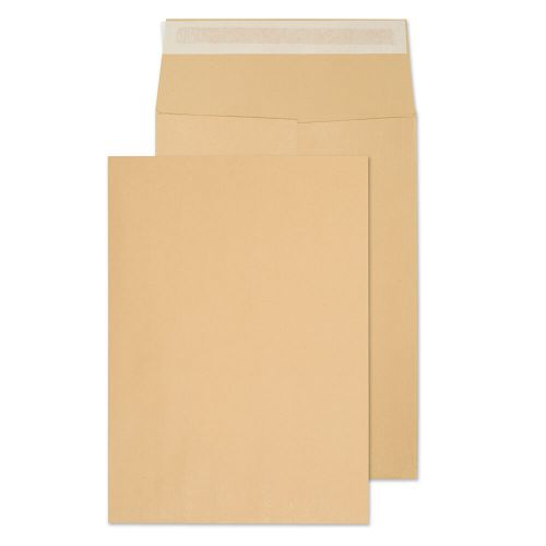 Blake Purely Packaging Manilla Peel & Seal Gusset Pocket 352X250X25mm 140Gm2 Pack 125 Code 42060 3P