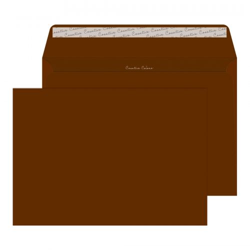 Creative Colour Milk Chocolate P&S Wallet C4 229x324mm Ref 423 [Pack 250] *10 Day Leadtime*