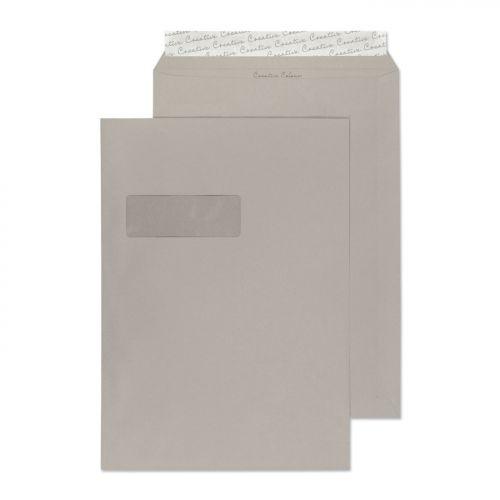 Creative Colour Pocket P&S Window Storm Grey 120gsm C4 324x229mm Ref 425W Pk 250 *10 Day Leadtime*