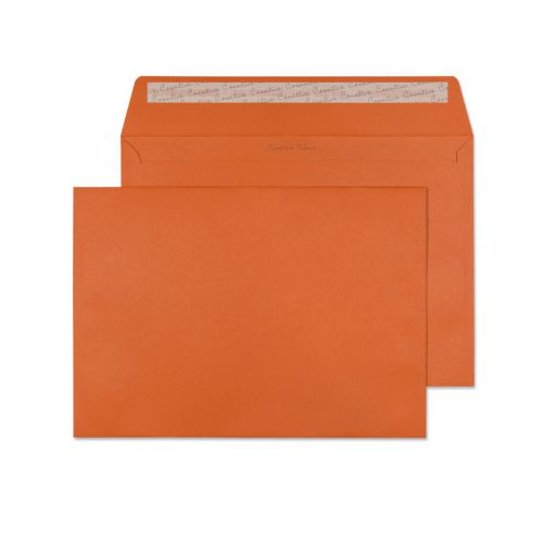Creative Colour Marmalade Orange P&S Wallet C4 229x324mm Ref 428 [Pack 250] *10 Day Leadtime*