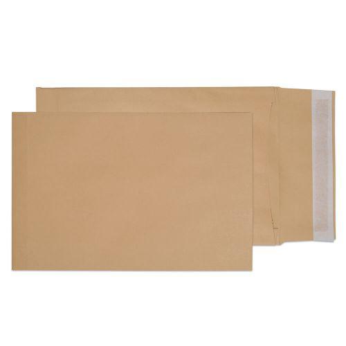 Blake Purely Packaging Manilla Peel & Seal Gusset Pocket 352X250X50mm 140Gm2 Pack 125 Code 45070 3P