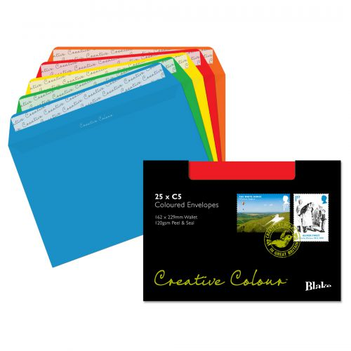 Blake Creative Colour Assorted Peel & Seal Wallet 162x229mm 120gsm Pack 25 Code 45123
