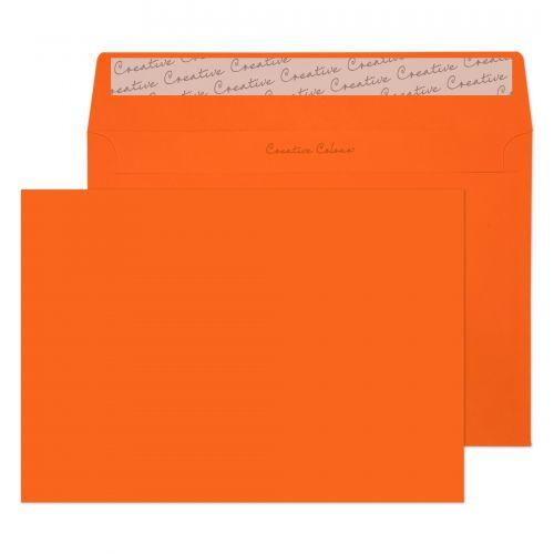 Blake Creative Colour Pumpkin Orange Peel & Seal W allet 162X229mm 120Gm2 Pack 25 Code 45305 3P