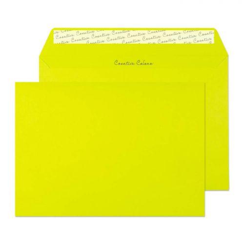 Blake Creative Colour Acid Green Peel & Seal Wallet 162x229mm 120gsm Pack 25 Code 45341