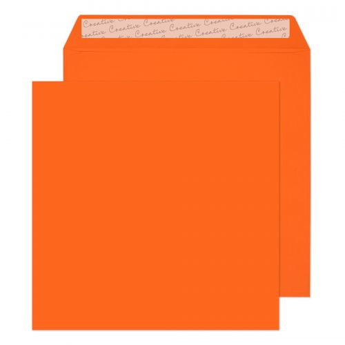 Creative Colour Pumpkin Orange Peel and Seal Wallet 220x220mm Ref 505 [Pack 250] *10 Day Leadtime*