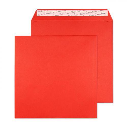 Blake Creative Colour Pillar Box Red Peel & Seal S quare Wallet 220X220mm 120Gm2 Pack 250 Code 506 3