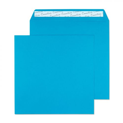 Creative Colour Caribbean Blue Peel and Seal Wallet 220x220mm Ref 510 [Pack 250] *10 Day Leadtime*