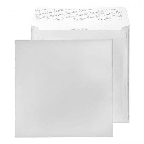 Creative Shine Metallic Silver Peel and Seal Wallet 220x220mm Ref 512 [Pack 250] *10 Day Leadtime*