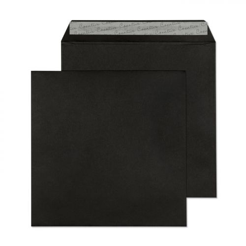 Creative Colour Jet Black Peel and Seal Wallet 220x220mm Ref 514 [Pack 250] *10 Day Leadtime*