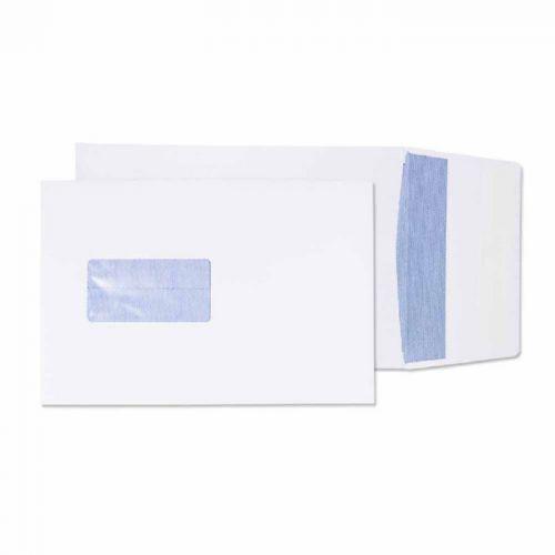 Blake Purely Packaging White Window Peel & Seal Gu sset Pocket 229X162X25mm 120G Pk125 Code 6001 3P