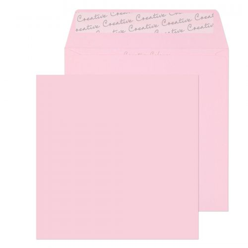 Creative Colour Square Wallet P&S Baby Pink 160x160mm 120gsm Ref 601 [Pack 500] *10 Day Leadtime*