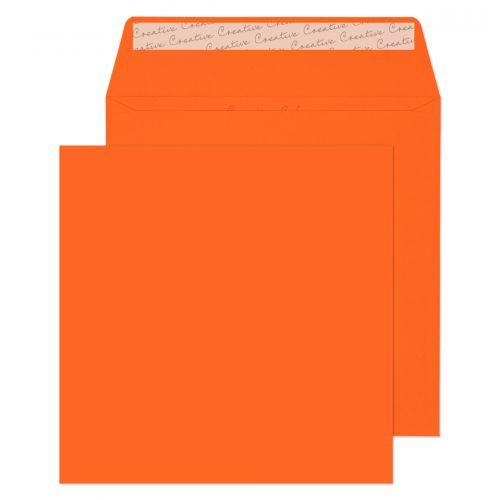 Creative Colour Square Wallet P&S Pumpkin Orange 120gsm 160x160mm Ref 605 Pk 500 *10 Day Leadtime*