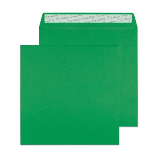 Blake Creative Colour Avocado Green Peel & Seal Square Wallet 160x160mm 120gsm Pack 500 Code 608