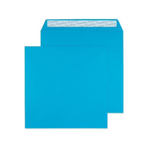 Creative Colour Square Wallet P&S Caribbean Blue 120gsm 160x160mm Ref 610 Pk 500 *10 Day Leadtime*