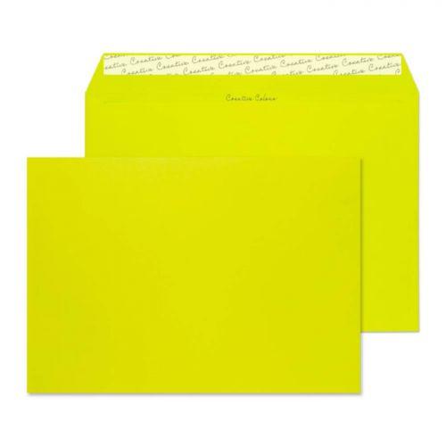 Blake Creative Colour Acid Green Peel & Seal Wallet 229x324mm 120gsm Pack 10 Code 63441