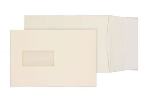 Blake Premium Business Cream Wove Window P&S Gusse t Pocket 229X162X25 140G Pk125 Code 6401W 3P