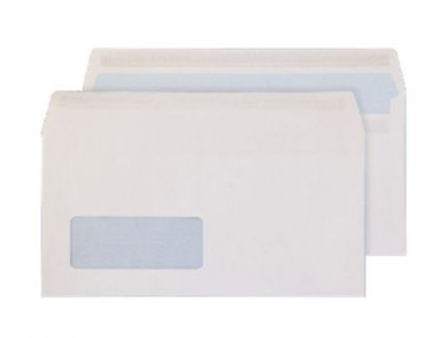 Blake Purely Everyday White Window Self Seal Wallet 110X220mm 100Gm2 Pack 500 Code 6633Fu 3P