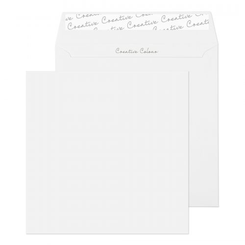 Creative Colour Square Wallet P&S Ice White 120gsm 155x155mm Ref 750 [Pack 500] *10 Day Leadtime*
