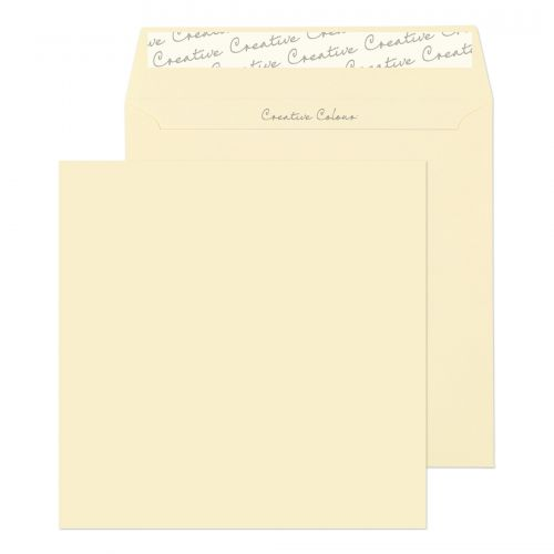 Creative Colour Square Wallet P&S Clotted Cream 120gsm 155x155mm Ref 753 Pk 500 *10 Day Leadtime*