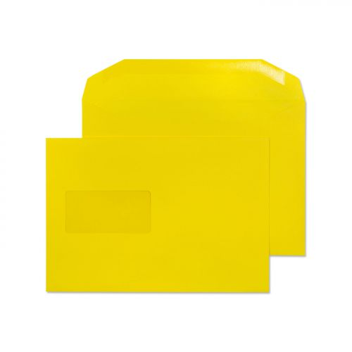 Blake Creative Colour Banana Yellow Window Gummed Mailer 162X235mm 120Gm2 Pack 500 Code 803Mw 3P