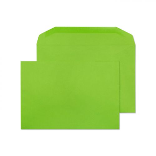 Creative Colour Lime Green Gummed Wallet 120gsm C5+ 162x235mm Ref 807M [Pack 500] *10 Day Leadtime*