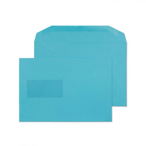 Blake Creative Colour Cocktail Blue Window Gummed Mailer 162X235mm 120Gm2 Pack 500 Code 809Mw 3P