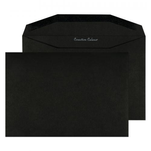 Blake Creative Colour Jet Black Gummed Wallet 162X235mm 120Gm2 Pack 500 Code 814M 3P