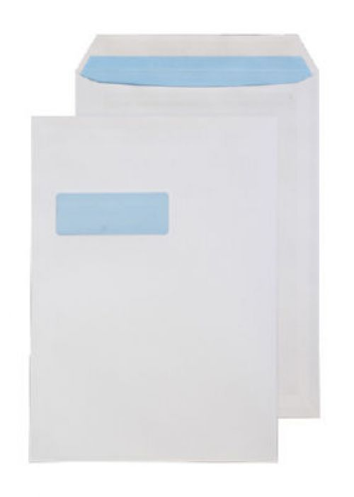 Blake Purely Everyday White Window Self Seal Pocket 324X229mm 110Gm2 Pack 250 Code 8892 3P