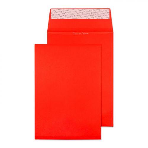 Blake Creative Colour Pillar Box Red Peel & Seal Gusset Pocket 324X229X25mm 140G Pk125 Code 9060 3P