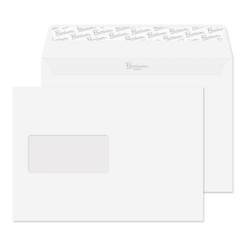 Blake Premium Bus Wallet Wndw P&S Diamond White Laid C5 120gsm Ref 91708 Pk500 *10 Day Leadtime*