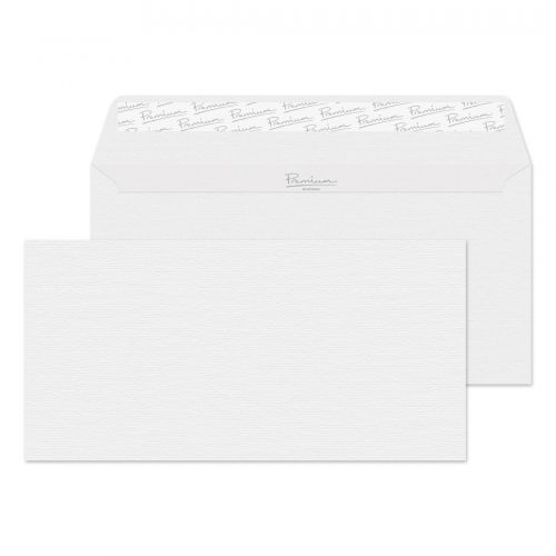 Blake Premium Envelope DL Wallet Peel & Seal 120gsm Diamond White Laid Ref 91882 [Pack 500]