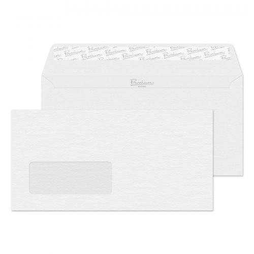 Blake Premium Business Diamond White Laid Window Peel & Seal Wallet 110X220 120G Pk500 Code 91884 3P