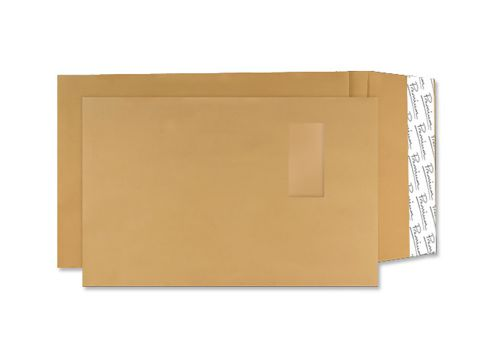 Blake Avant Garde Envelope Gusset Pocket Peel & Seal Window 140gsm C4 Cream Manilla Ref AG0054 [Pack 100]