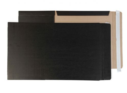 Purely Packaging Black Book Wraps Book Wrap P&S 350x250x50mm Ref BWC4+ [Pack 25] *10 Day Leadtime*