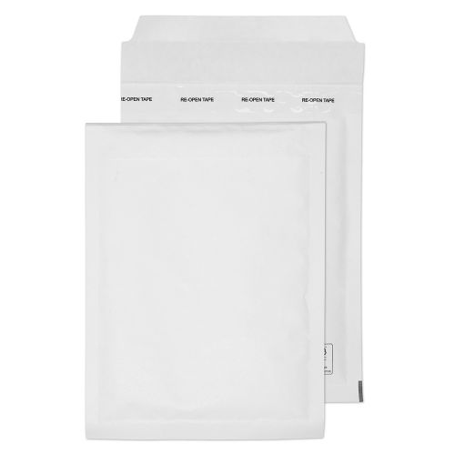 Blake Purely Packaging 215 x 150 mm Envolite Peel & Seal Padded Bubble Envelopes (C/0) White - Pack of 100
