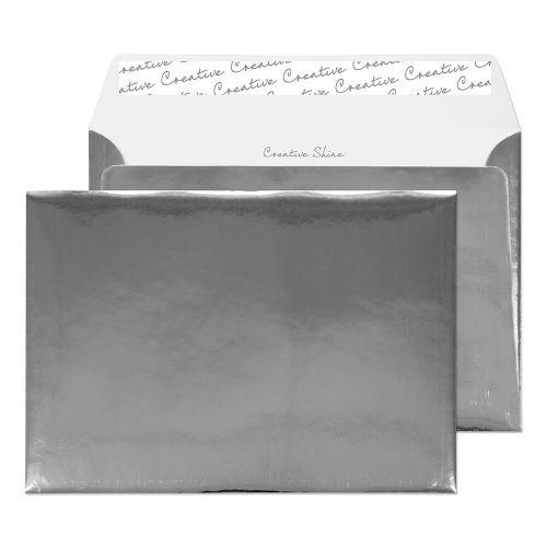 Blake Creative Shine Chrome Plated Peel & Seal Wal let 162X229mm 140Gm2 Pack 100 Code Ef391 3P