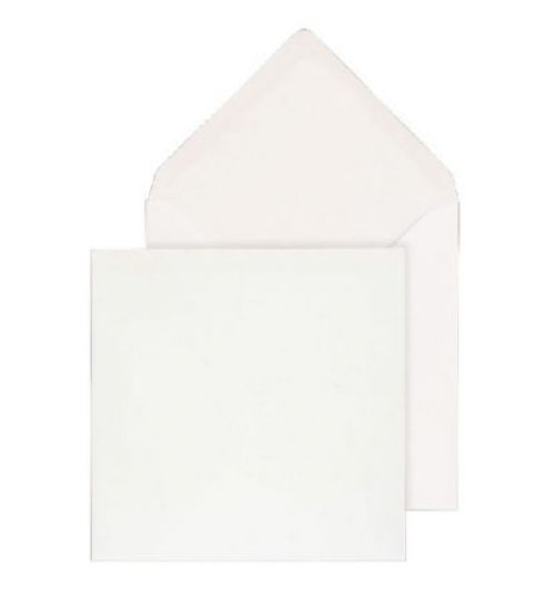 Purely Everyday Square Banker Invit Gum White 100gsm 130x130 Ref ENV0130 Pk500 *10 Day Leadtime*