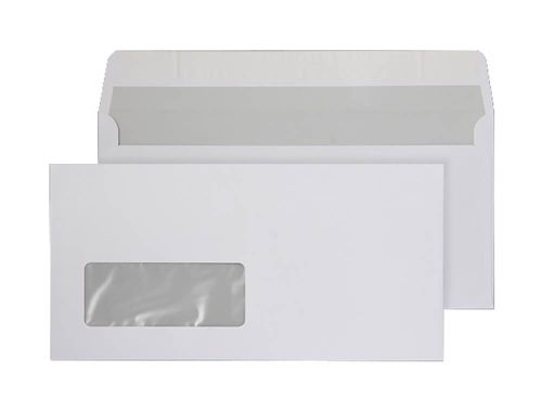Purely Everyday Wallet P&S Window Bright White 120gsm DL 110x220 Ref ENV12 Pk 500 *10 Day Leadtime*