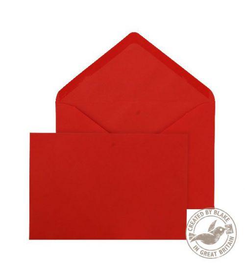 Purely Everyday Banker Invitation Gummed Red 100gsm 133x185mm Ref ENV2608 Pk 500 *10 Day Leadtime*