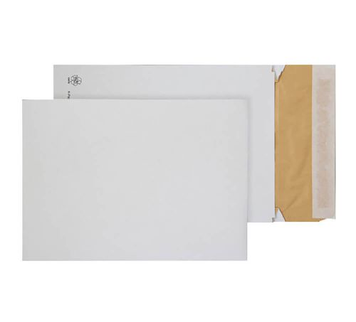 Blake Purely Packaging White Peel & Seal Padded Gusset Pocket 350X250X50mm 140G Pk100 Code Epb4 3P