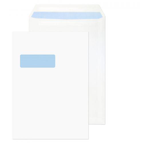 Value Pocket S/S Window C4 324x229mm 90gsm White PK250
