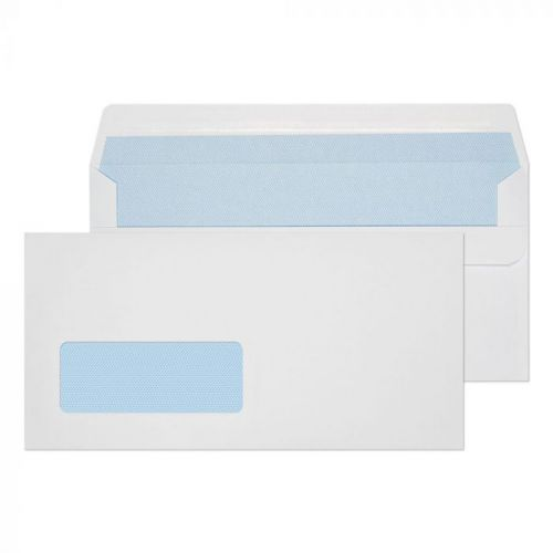Value Wallet S/S Window DL 110x220mm 90gsm White PK1000